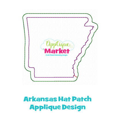 Arkansas Hat Patch Applique Design