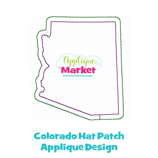 Colorado Hat Patch Applique Design