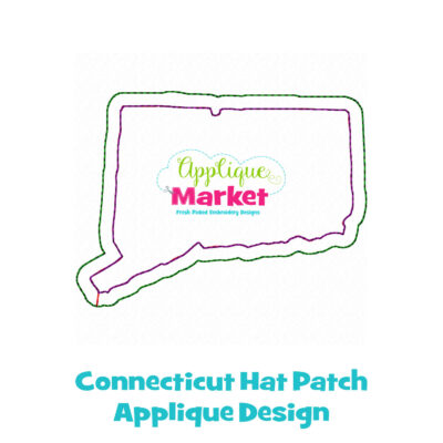 Connecticut Hat Patch Applique Design
