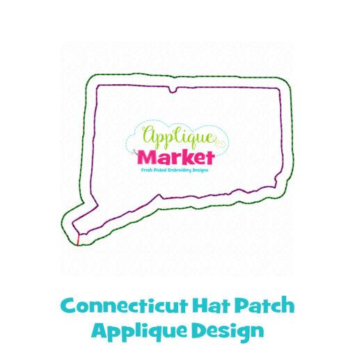 Connecticut Hat Patch Applique Design