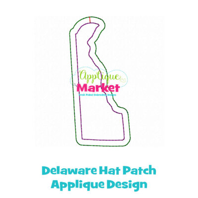 Delaware Hat Patch Applique Design