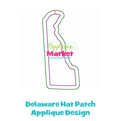 Delaware Hat Patch Applique Design