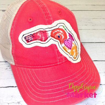 Florida Outline Applique Hat Patch