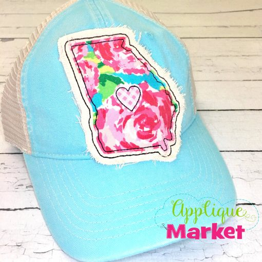 Georgia Outline Applique Hat Patch