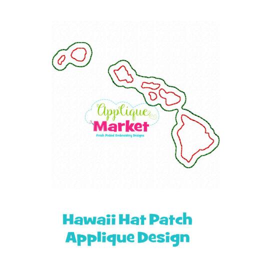 Hawaii Hat Patch Applique Design