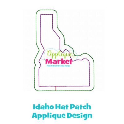 Idaho Hat Patch Applique Design