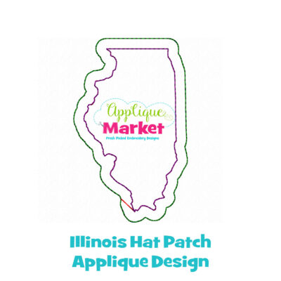 Illinois Hat Patch Applique Design