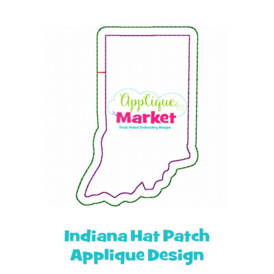 Indiana Hat Patch Applique Design