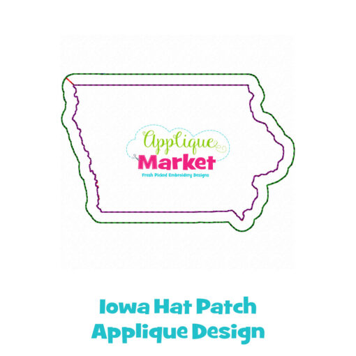 Iowa Hat Patch Applique Design
