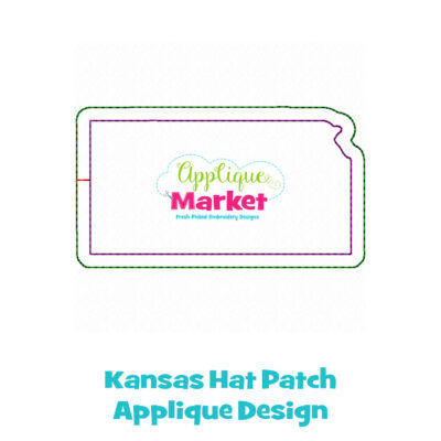 Kansas Hat Patch Applique Design