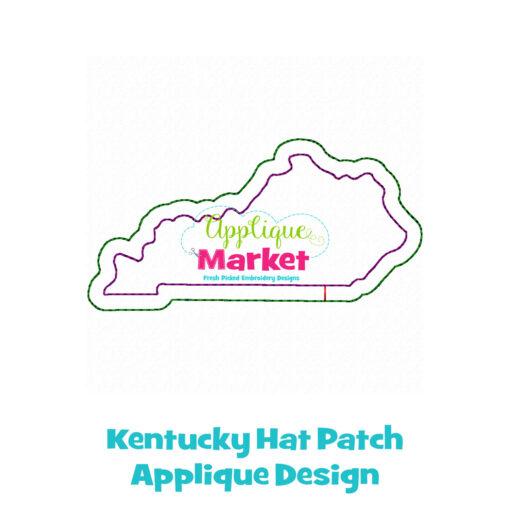 Kentucky Hat Patch Applique Design
