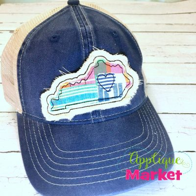 Kentucky Outline Applique Hat Patch