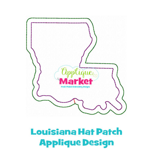 Louisiana Hat Patch Applique Design