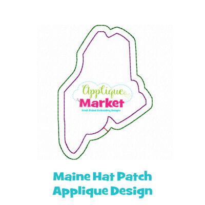 Maine Hat Patch Applique Design