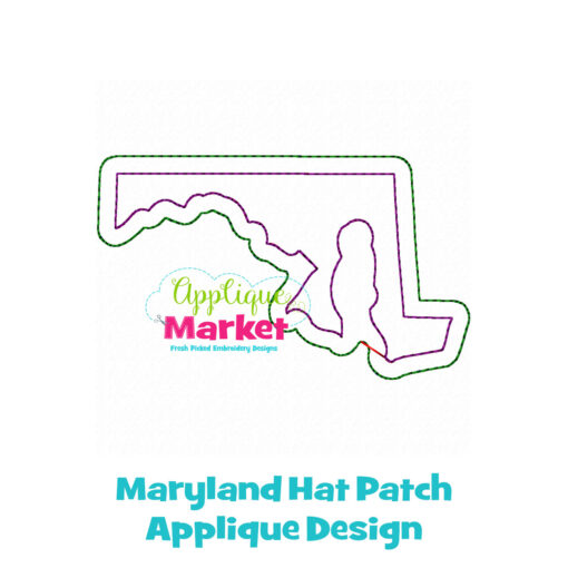 Maryland Hat Patch Applique Design