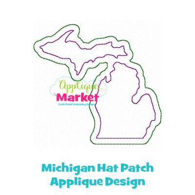 Michigan Hat Patch Applique Design