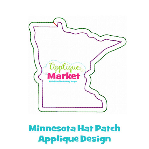 Minnesota Hat Patch Applique Design