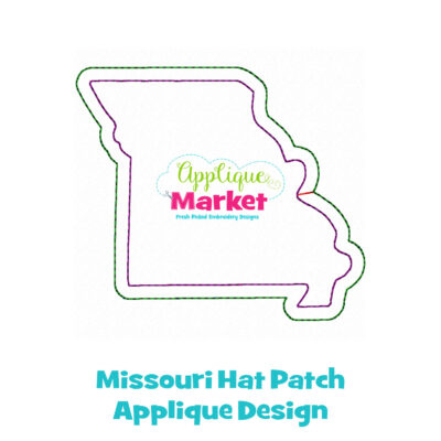 Missouri Hat Patch Applique Design