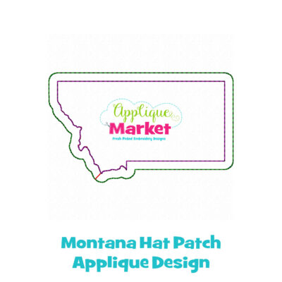 Montana Hat Patch Applique Design