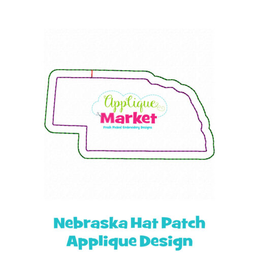Nebraska Hat Patch Applique Design