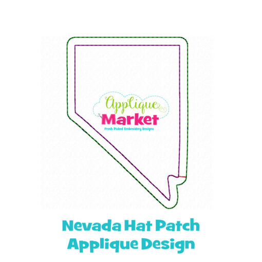 Nevada Hat Patch Applique Design