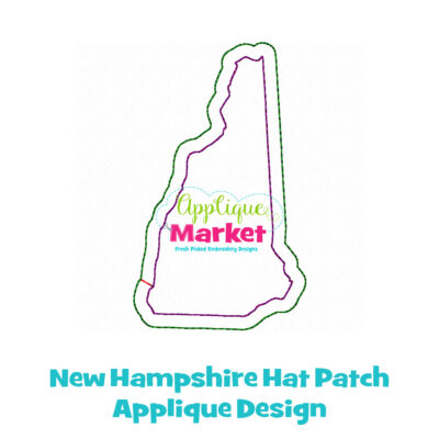 New Hampshire Hat Patch Applique Design