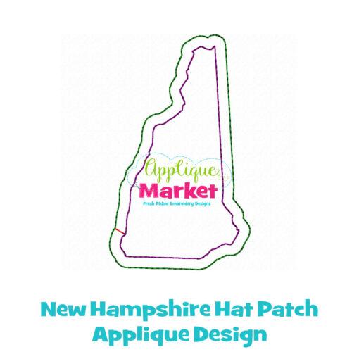 New Hampshire Hat Patch Applique Design