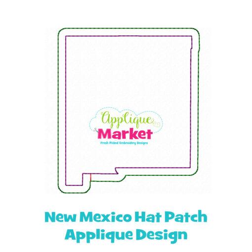 New Mexico Hat Patch Applique Design