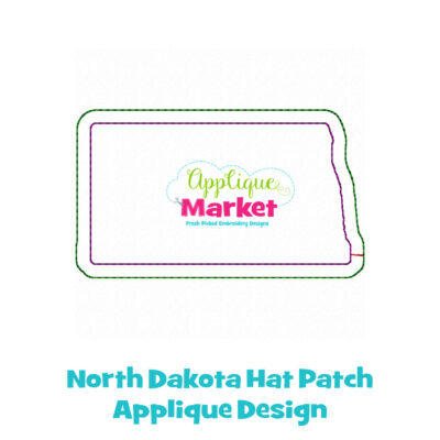 North Dakota Hat Patch Applique Design
