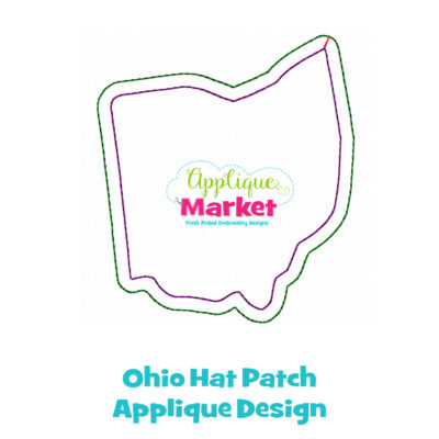 Ohio Hat Patch Applique Design