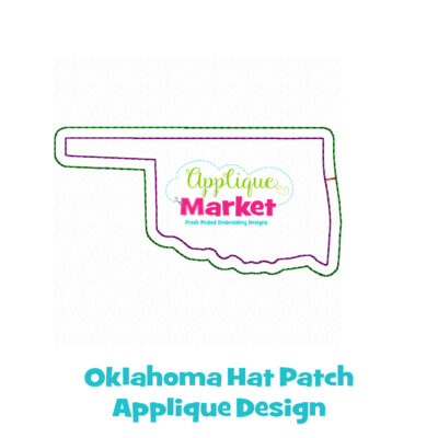 Oklahoma Hat Patch Applique Design