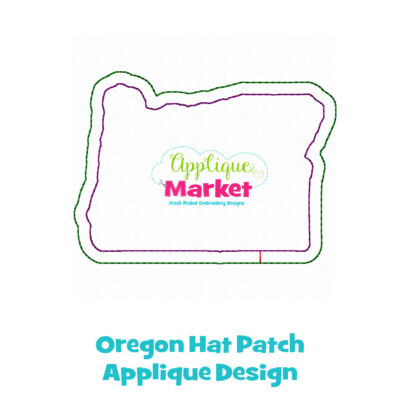 Oregon Hat Patch Applique Design