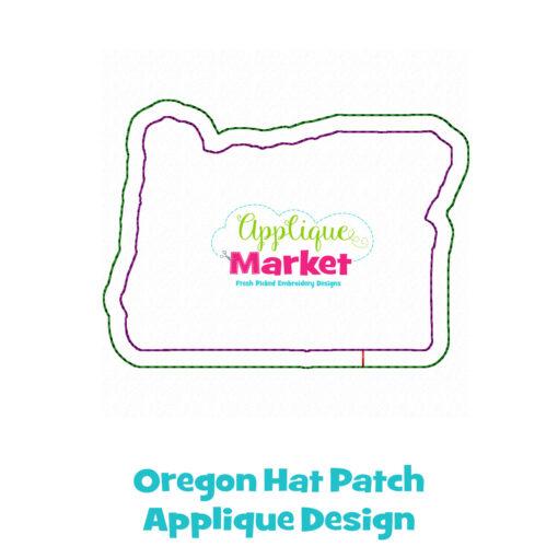 Oregon Hat Patch Applique Design