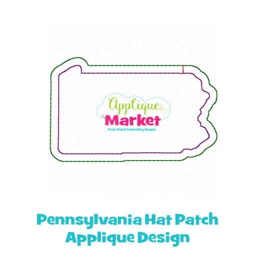 Pennsylvania Hat Patch Applique Design