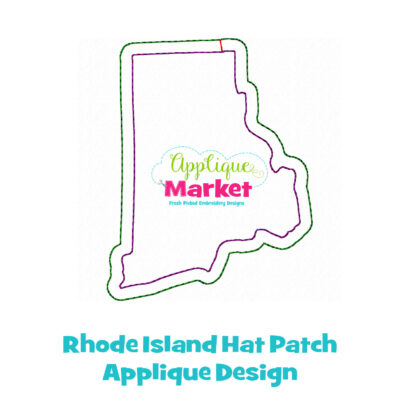 Rhode Island Hat Patch Applique Design