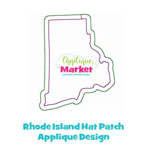 Rhode Island Hat Patch Applique Design