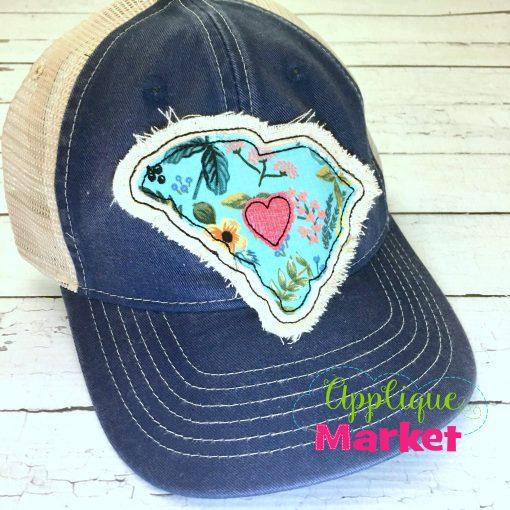 South Carolina Outline Applique Hat Patch