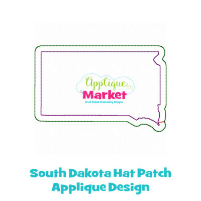 South Dakota Hat Patch Applique Design