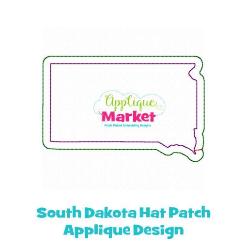 South Dakota Hat Patch Applique Design