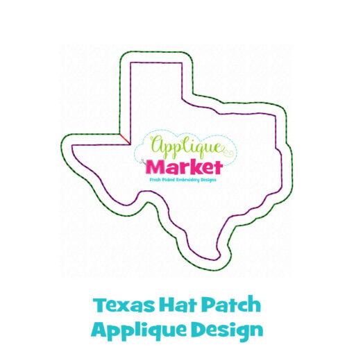 Texas Hat Patch Applique Design