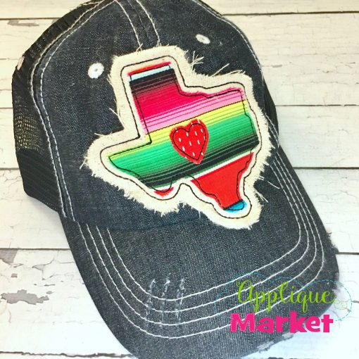 Texas Outline Applique Hat Patch