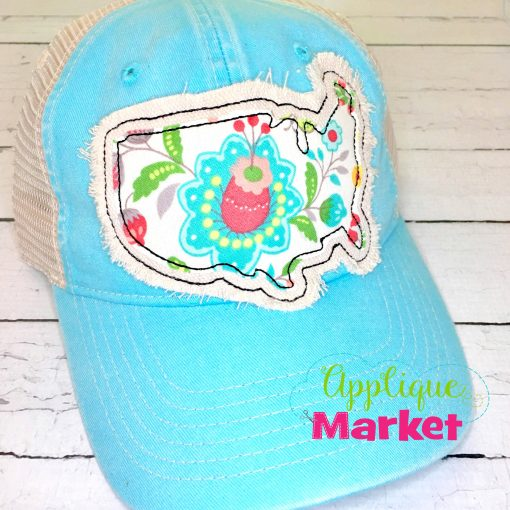 USA Outline Applique Hat Patch