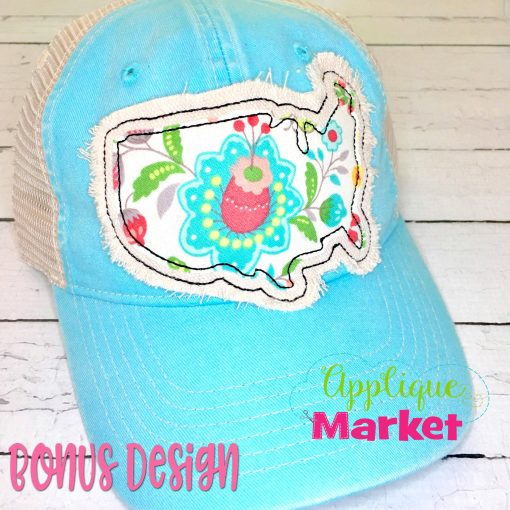 USA Outline Applique Hat Patch Bonus