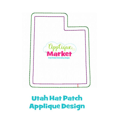 Utah Hat Patch Applique Design