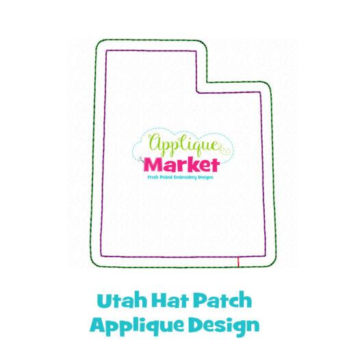 Utah Hat Patch Applique Design