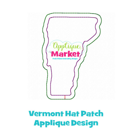 Vermont Hat Patch Applique Design