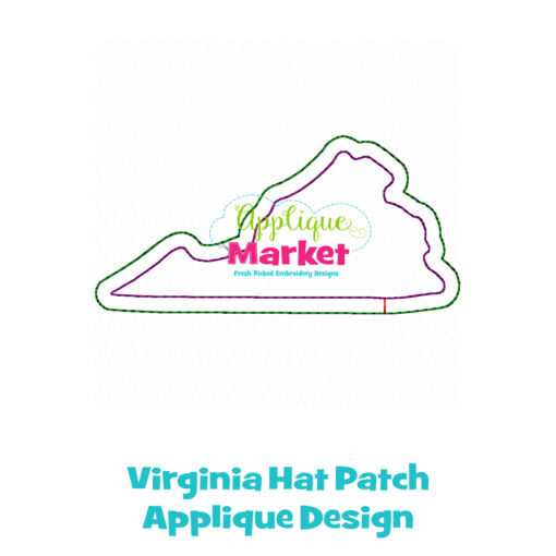 Virginia Hat Patch Applique Design