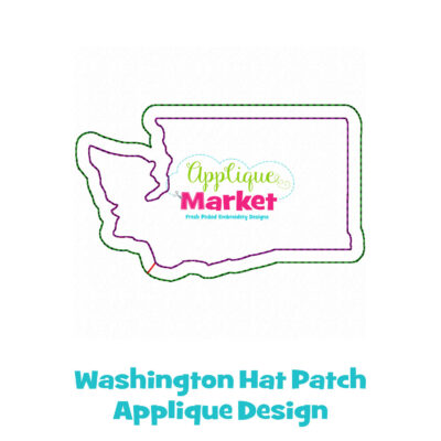Washtington Hat Patch Applique Design