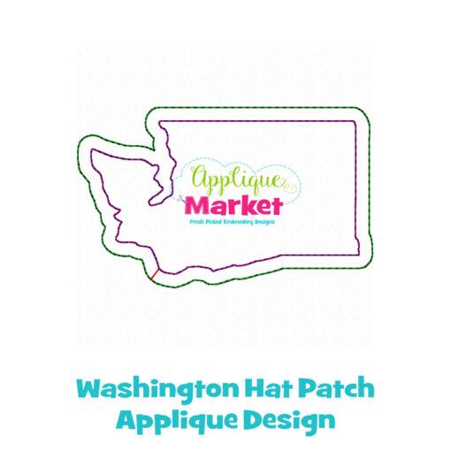 Washtington Hat Patch Applique Design