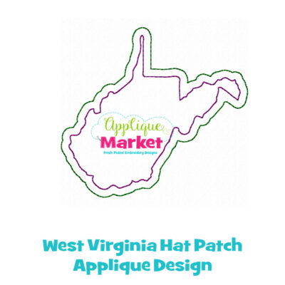 West Virginia Hat Patch Applique Design